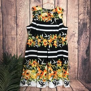 Shelby & Palmer Fit and Flare Dress 22W Floral